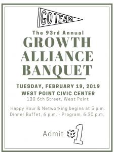 Growth Alliance Banquet @ West Point Civic Center